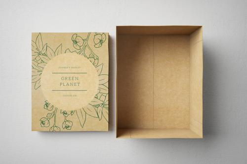 Coffret carton recyblable