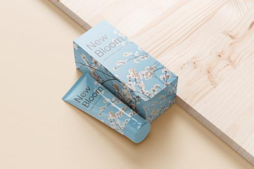 Boîte verticale en carton simple cannelure avec ouverture facile sur le dessus